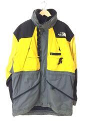 90s/SKIWEAR/ナイロンジャケット/XL/イエロー/TNF-701/刺繍ロゴ/ノースフェイス