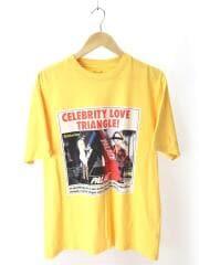 19AW/LOVE TRIANGLE T-SHIRT/Tシャツ/M/コットン/イエロー/パレス/フォトプリント