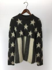 19AW/USA Flag Mohair Jacquard Crewneck Knit/セーター/M/モヘア/グレー