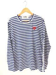 L/S TEE/長袖Tシャツ/XL/コットン/ブルー/AZ-T164