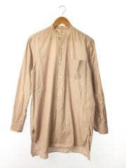 18ss/バンドカラーシャツ/SAND PINK/2/コットン/マルチカラー/ストライプ/M01-02002