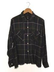 19SS/Cut-Off Bottom Classic Shirt/シャツ/断ち切り/M/GRN/チェック