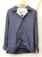 オープンカラーシャツ/バイカラー/108500001/2/ポリエステル/NVY