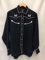 長袖シャツ/XS/ポリエステル/NVY/無地/EJ171/19SS/Embroidered Cowboy Sh
