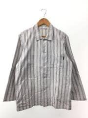 長袖シャツ/--/コットン/WHT/ストライプ