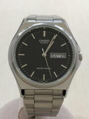 クォーツ腕時計/アナログ/ステンレス/BLK/MTP-1240DJ