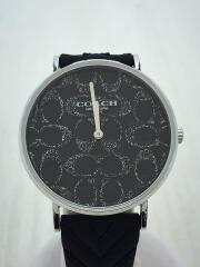 PERRY/クォーツ腕時計/アナログ/ラバー/BLK/BLK/型番:15403028