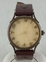 Vie handmade watch/クォーツ腕時計/アナログ/レザー/CML/BRW