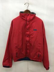 ブルゾン/三角タグ/USA製/M/ポリエステル/RED/28301/小穴/汚れ有