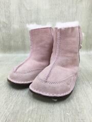 キッズ/11cm/ブーツ/スウェード/PNK