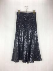 スパンコールスカート/1/ナイロン/BLK/09WFS184126