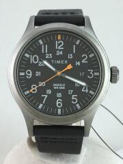ALLIED/クォーツ腕時計/アナログ/レザー/BLK/TW2R46500