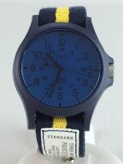 クォーツ腕時計/アナログ/ナイロン/NVY/YLW/TW2T21800WSB