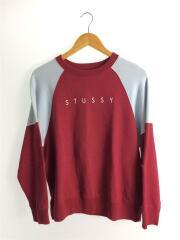 バックロゴスウェット/M/コットン/RED/BLU/