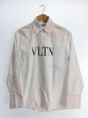 19ss/shirt met print/プリント長袖シャツ/RV3AB724XKR/XL/コットン/WHT
