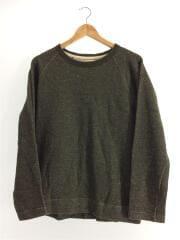 セーター(厚手)/596-6266514/L/ウール/GRN/無地