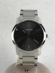 カルバンクライン/クォーツ腕時計/アナログ/ステンレス/BLK/BLK/K2G221/箱有