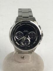 ワイアード-/ソーラー腕時計/アナログ/ステンレス/BLK/SLV/VR42-0AA0/641464