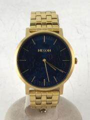 ニクソン/クォーツ腕時計/アナログ/BLU/GLD