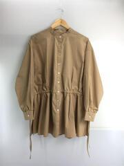 長袖シャツ/FREE/コットン/BEG/無地/20年モデル/タグ付き