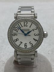 クォーツ腕時計/アナログ/ステンレス/WHT/SLV/CA.72.3.14.0744S