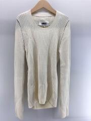 セーター(薄手)/M/ウール/WHT