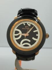 クォーツ腕時計/アナログ/エナメル/BLK/WF0R060SP