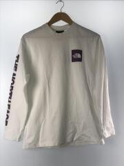 長袖Tシャツ/S/コットン/WHT