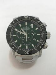 EDOX エドックス/10221/クロノオフショア/クォーツ腕時計/アナログ/GRN/SLV