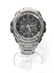 ソーラー腕時計・G-SHOCK/デジアナ/ステンレス/SLV/SLV