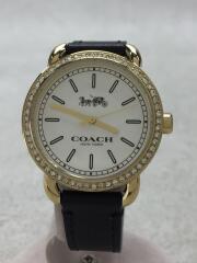 クォーツ腕時計/アナログ/レザー/WHT/CA.105.7.95.1240S