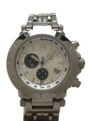 ゲスGcコレクション/クォーツ腕時計/アナログ/ステンレス/WHT/SLV/X47008G1/GC