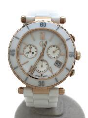 クォーツ腕時計/アナログ/--/WHT/WHT/47504M1/Guess Collection