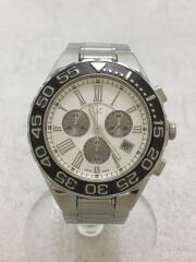 GC32500/クォーツ腕時計/アナログ/ステンレス/WHT/SLV/GC/GUESS クロノグラフ