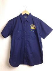 半袖シャツ/42/コットン/NVY