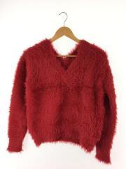 017210790セーター(薄手)/--/アクリル/RED