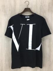 ヴァレンティノ/18AW/ビッグロゴ/Tシャツ/M/コットン/BLK/QV0MG14D57F