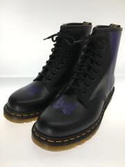 Needles×Dr Martens/8 Holes Stripe Boot/レースアップブーツ/UK8/BLK/