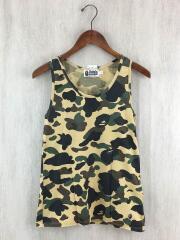 1st camo/裾ロゴ/タンクトップ/XS/コットン/GRN/カモフラ/オールド