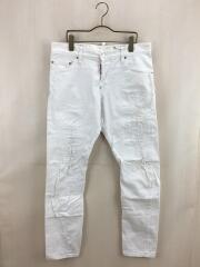 スキニーパンツ/48/コットン/ホワイト/S74LA0812