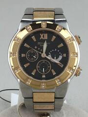 カシオ/クォーツ腕時計/アナログ/ステンレス/BLK/SLV/SHN-7000SGD