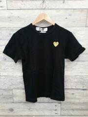 ゴールドロゴ/Tシャツ/S/コットン/BLK/AZ-T216