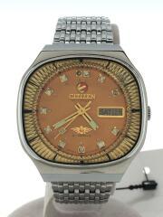 自動巻腕時計/アナログ/ステンレス/ORN/SLV/71-2176/イカリ/vintage