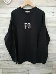 FGロゴロンT/長袖Tシャツ/L/コットン/BLK