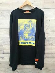 REG TSHIRT LS HERON PAINT OFF BLACK MULTI/長袖Tシャツ/XL