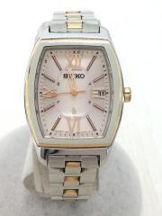 セイコー/ソーラー腕時計/1B22-OAZO/アナログ/ステンレス/PNK/SLV