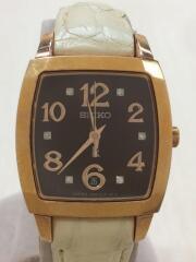 クォーツ腕時計/アナログ/レザー/LUKIA/7N82-0EX0