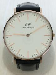 CLASSIC SHEFFIELD/36mm/クォーツ腕時計/アナログ/レザー/DW00100036