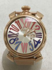 クォーツ腕時計/アナログ/ステンレス/SLV/PNK/5081.1