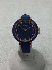 クォーツ腕時計/アナログ/ラバー/NVY/KSW1353